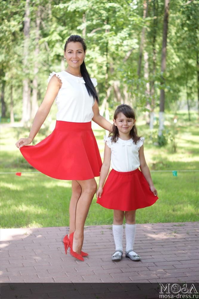 Юбки для мамы и дочки