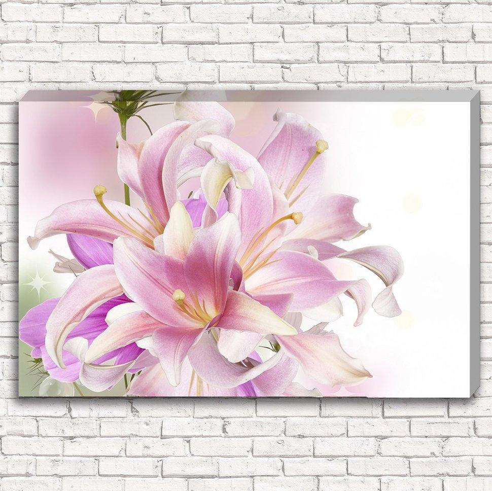 розовая лилия на фотопечати днем воспитателя