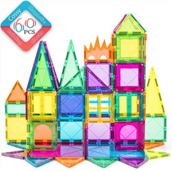 cossy 60 Pcs Magnet Tiles Magnetic 3D Building Blocks Set Educational Construction Toys for 3+