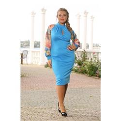 Платье ПАРФЮМ голубое
