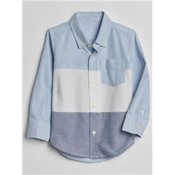 Colorblock Oxford Button-Down Shirt